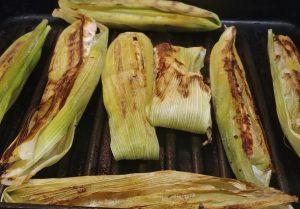 Corn Husk Fish Grilling