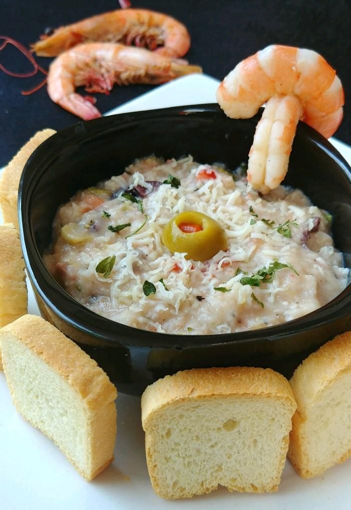 Zesty Lemon Boiled Shrimp Dip