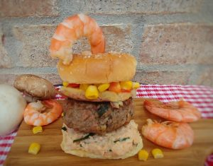 Shrimp Boil Burger