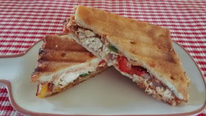 Leftover Pizza Chicken Philly Panini