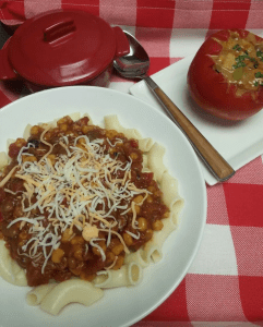 Leftover Baked Bean Tex-Mex Pasta