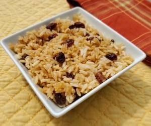 Coconut Raisin Leftover Rice