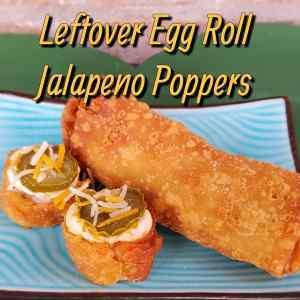 Leftover Egg Roll Jalapeno Poppers