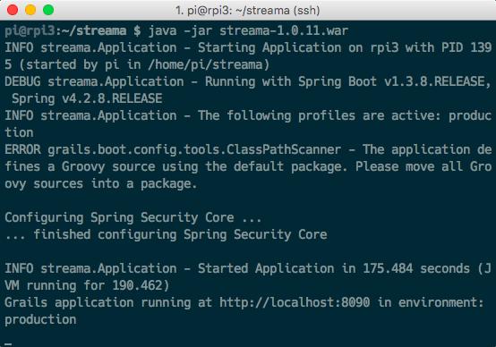 Streama Netflix video stream self hosted Raspberry Pi Debian Linux