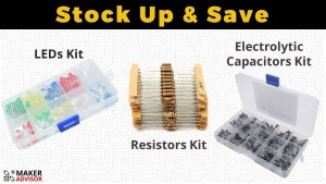 Stock Up Your Electronics Components: Resistors, LEDs, and Capacitors