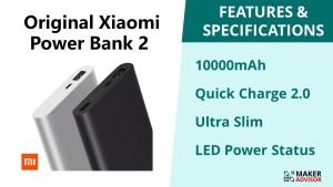 Save 16% on the Original Xiaomi Power Bank 2 – 10000mAh