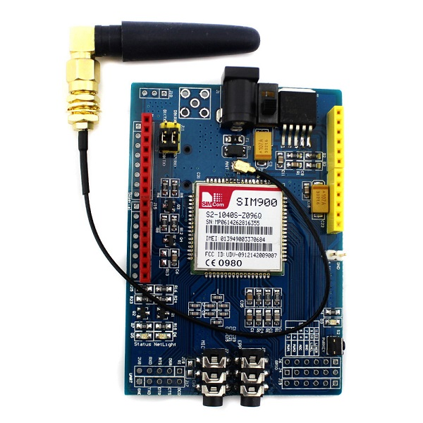 Banggood - SIM900 Quad-Band GPRS/GSM Shield Development Board for Arduino