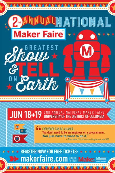 Maker Faire Postcard