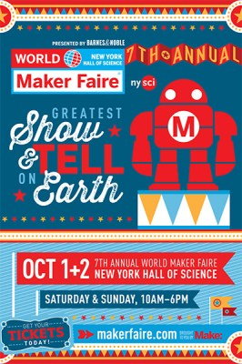 Maker Faire 2016 Postcard