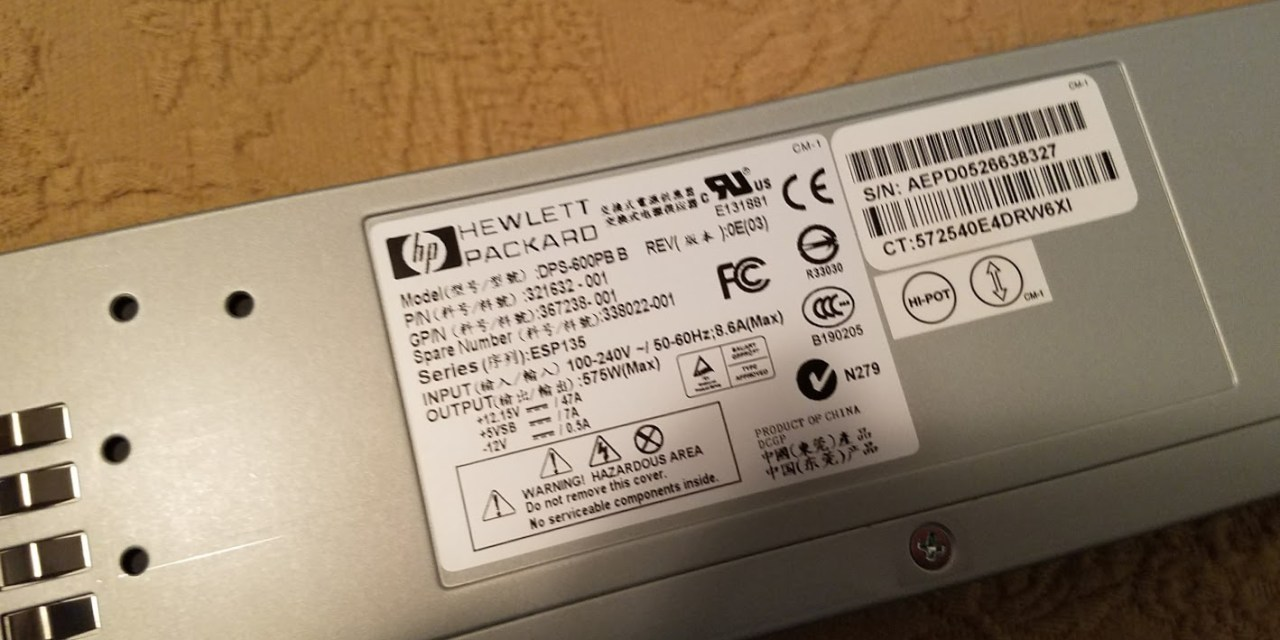 HOW TO: Convert a Server Power supply