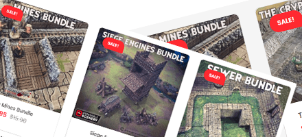 Printable Scenery sale on 3D terrain Bundles