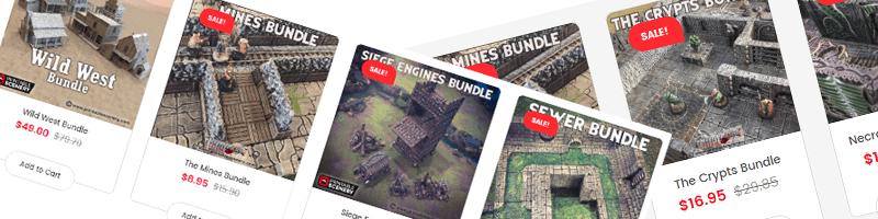Printable Scenery sale on 3D terrain Bundles