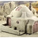 Terrain 4 Print - Desert sci-fi buildings -1