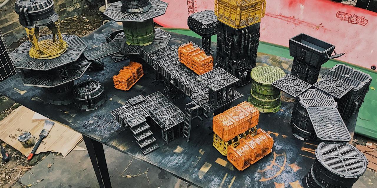 3D Printable Terrain for Necromunda: Underhive » Maker Fun 3D - 3D