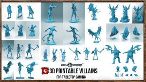 13 printable villains - 28mm