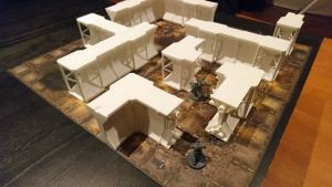 Necromunda walls by Kraken's 3D Print Workshop