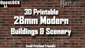 28mm Modular Modern Buildings & Scenery