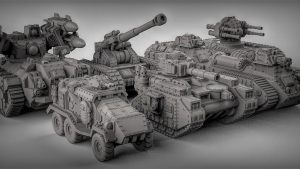 3D printable Sci-Fi Tanks by Duncan 'shadow' Louca
