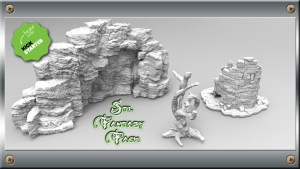 3d Printable Files STL for Fantasy Scenery