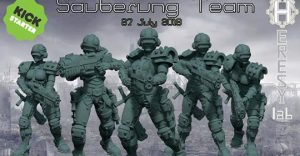 HeresyLab - The Sauberung Punisher Squad Miniatures and STL