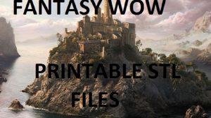 Fantasy WOW 3D printable Buildings and Terrain stl files
