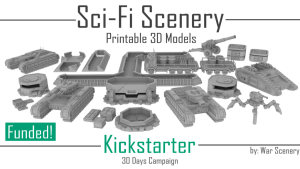 Sci-Fi Scenery - 3D Printable Props Vehicles and Terrain