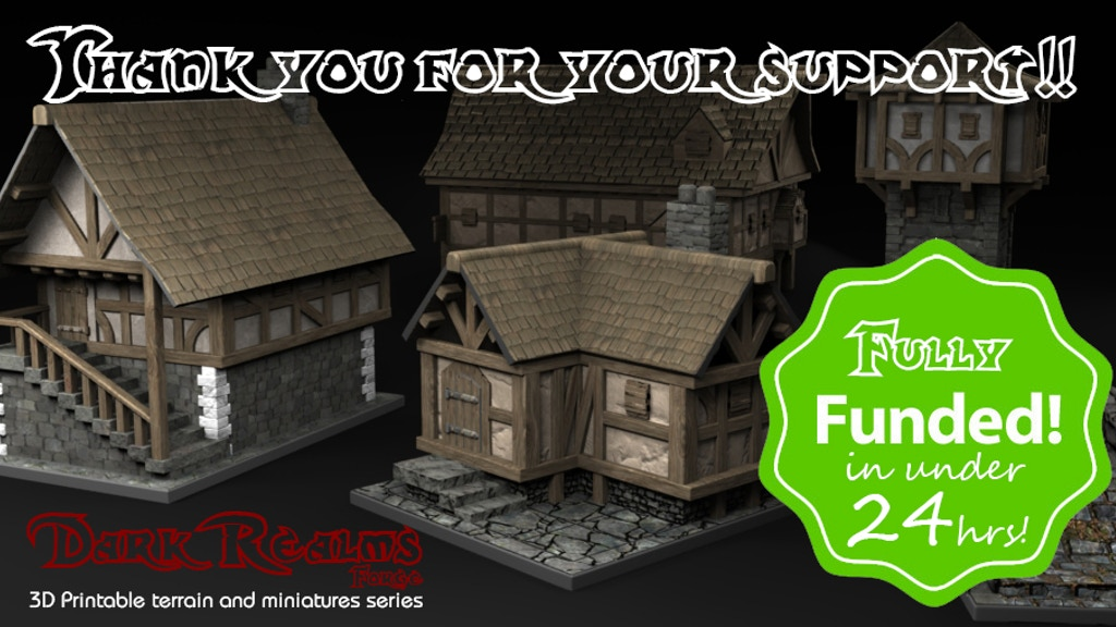 photograph regarding 3d Printable Terrain named Medieval Surroundings - 3D Printable Terrain and Props » Producer