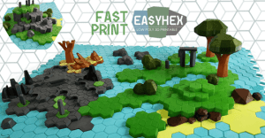 EASYHEX- NATURAL LANDSCAPES Low poly 3D printable