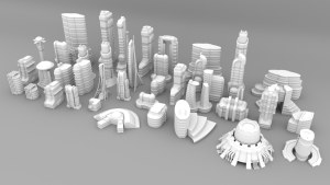 3d Printable Sci-fi Buildings for Tabletop Wargames