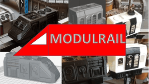 Modurail - 3D printable Future Monorail for 28mm Wargames