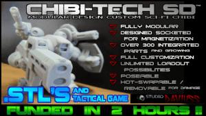 CHIBI-TECH SD : MODULAR MECHA (.STL) FILES