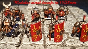 Modular metal dwarfs in 15/28mm and a 3D (STL) outpost