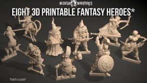 https://www.kickstarter.com/projects/medusaminiatures/eight-3d-printable-fantasy-heroes-for-tabletop-gaming