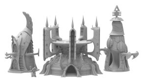 3D Printable Space Elf Buildings