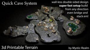 Mystic Realm's QCS: Quick Cave System 3d Tabletop Terrain