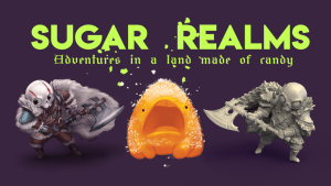 Sugar Realms: Candy Golem STL files and a new 5e race