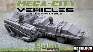 Mega - City Vehicles : 3D Printable Files