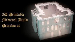 3D Printable Medieval Build Procedural for Boardgames