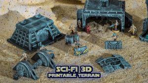 Sci-fi 3d Printable Terrain