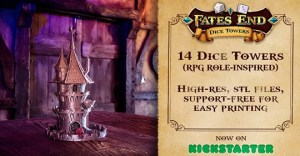 Fates End - 3D Printable Dice Towers