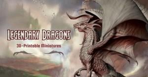 Legendary Dragons 3D printable files for Miniatures