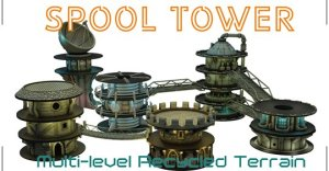Spool tower - Multilevel Modular Scenery Construction System