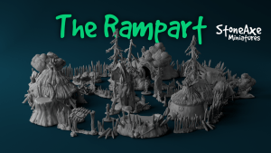 The Rampart - Printable stl 3d models for wargaming