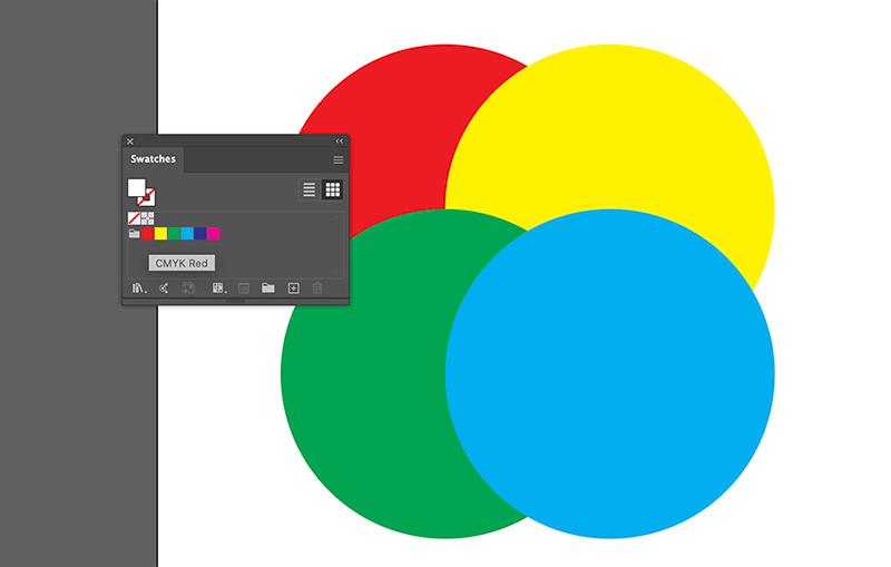 CMYK Colors Illustrator Riso Effect