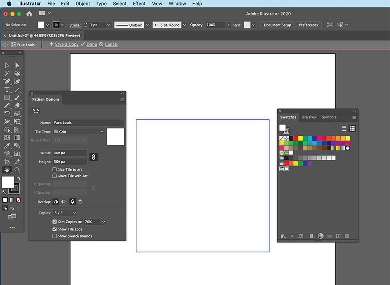 make a new pattern in illustrator