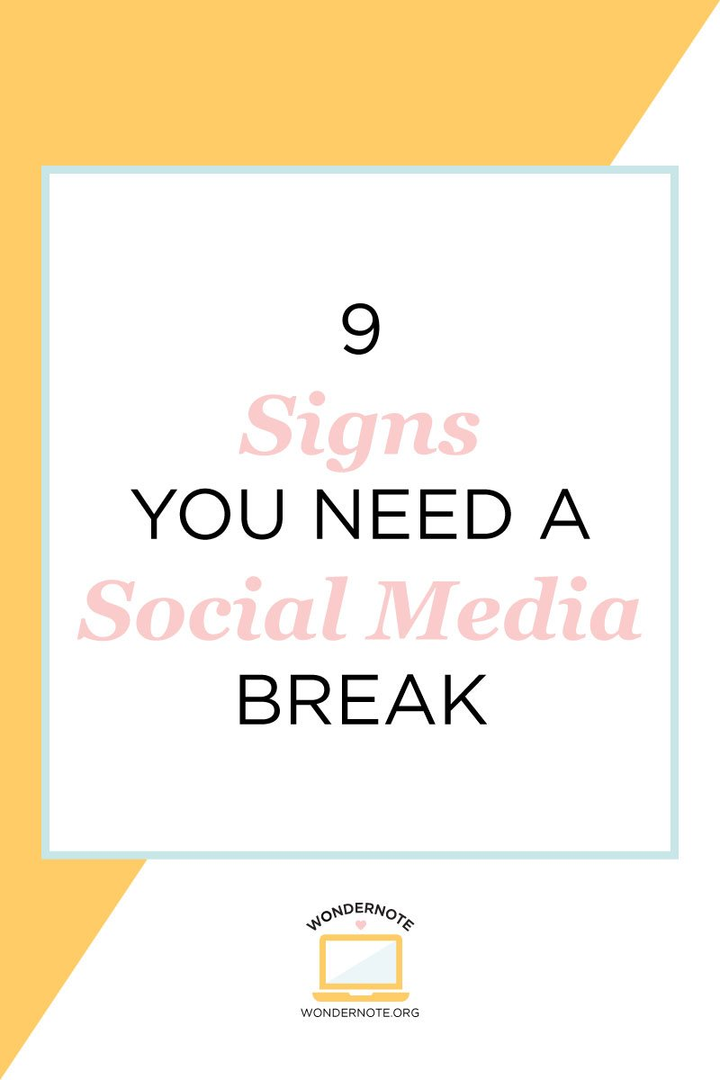 signs you need a social media break