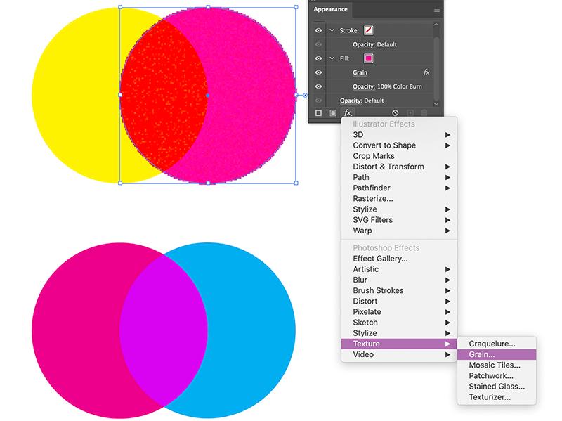 Grain Texture Riso Effect Illustrator