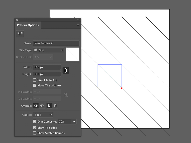 build a repeatable cross hatch mark pattern in adobe illustrator