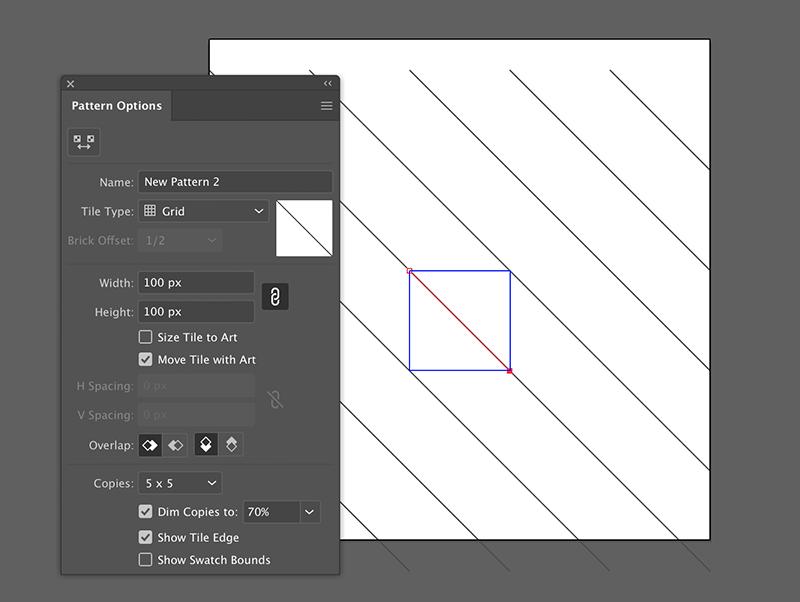 build a repeatable cross hatch mark pattern in adobe illustrator