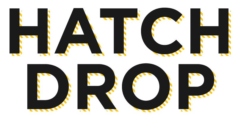 hatch mark drop shadow text effect adobe illustrator